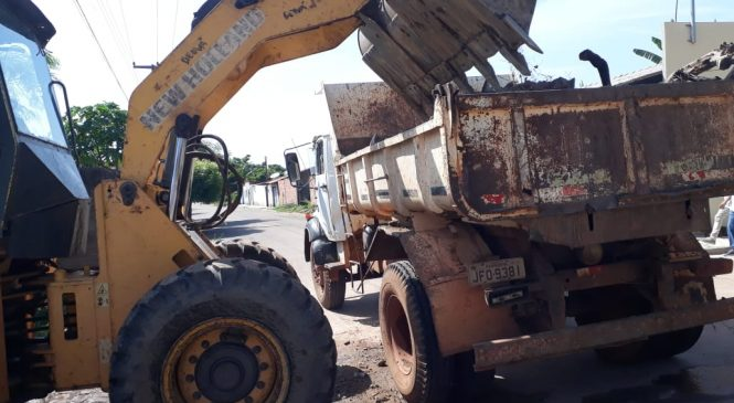 Mais de 300 toneladas de lixo foram retirados das ruas de Esperantina em uma semana
