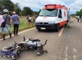 Grave acidente entre carro e moto deixa dois mortos na PI-216 em Pedro II