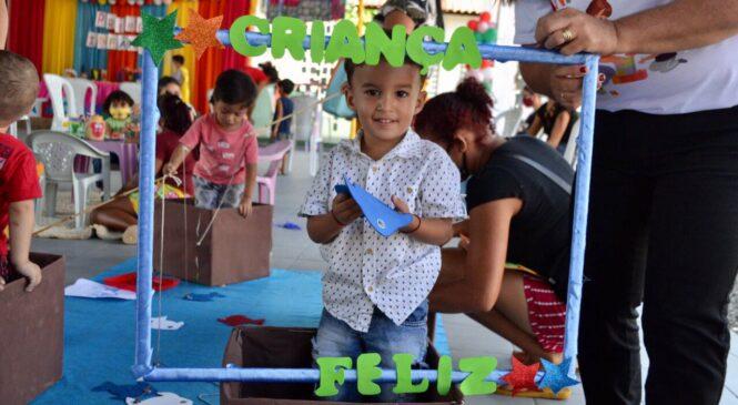 Secretaria de assistência social realiza atividade do programa Criança Feliz