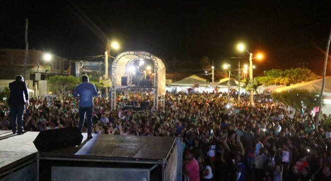 Multidão lota a arena no lançamento do Festival do Peixe em Esperantina