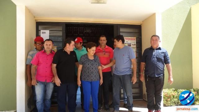 Prefeito Marcos Henrique recepcionou a senadora Regina Sousa na cidade de Morro do Chapéu do Piaui
