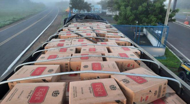 Polícia Rodoviária Federal faz a maior apreensão de carga de cigarros