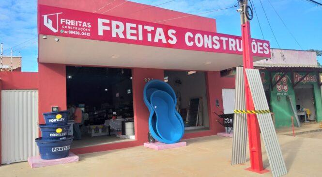 Freitas Construções: Aberta em Esperantina a mais nova de loja de material de construção