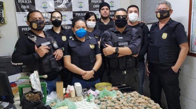 Polícia prende dois em Barras com  grande quantidade  de drogas