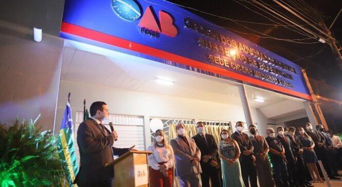 Inaugurada a Primeira Sede da Subseção da OAB em Esperantina