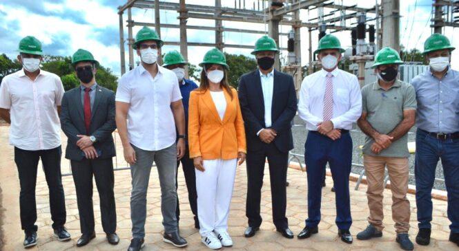 Prefeita Ivanária Sampaio participa de inauguração da subestação de energia da Equatorial