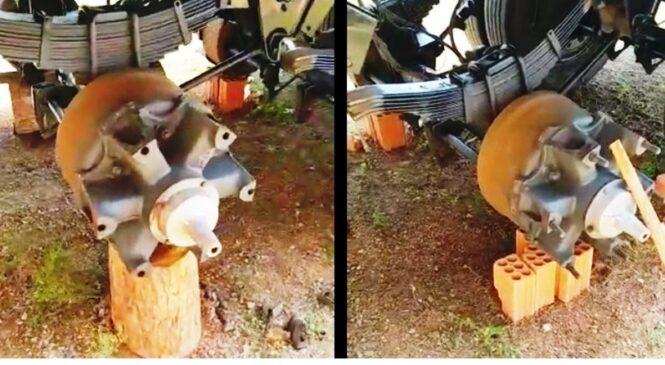 Bandidos roubam pneus de carreta em Matias olímpio